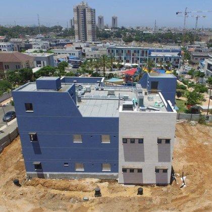 צילום מרחפן בשלבי בניה מתקדמים