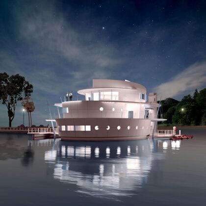 הבית על האגם- הצעה בתחרות- הפארק הלאומי רמת גן