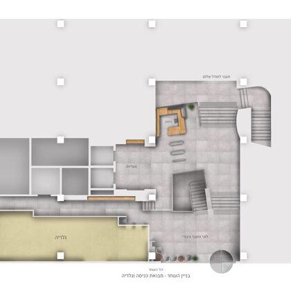 תכנית נגטיבית   מבואת כניסה וגלריה   בניין השחר