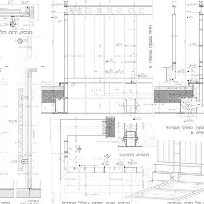 מעקות פנים ודלתות חזית: פרטים ממוזיאון נחום גוטמן- במשרד רוני זייברט אדריכלים